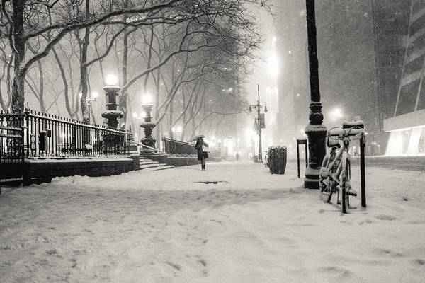 Nyc Print featuring the photograph New York City Winter Night by Vivienne Gucwa