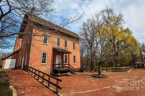 1800's Print featuring the photograph Northwest Indiana Grist Mill by Paul Velgos