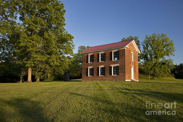 Old Schoolhouse Print featuring the photograph Old Schoolhouse by Brian Jannsen