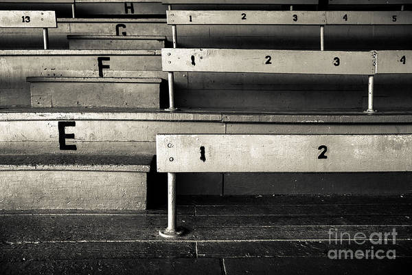 Baseball Print featuring the photograph Old Stadium Bleachers by Diane Diederich