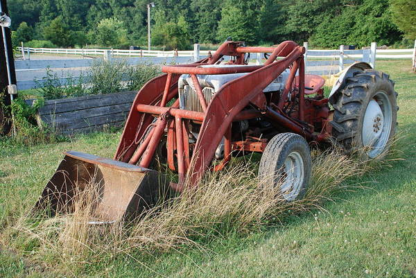 Tractor Print featuring the photograph Old Tractor by Jennifer Ancker
