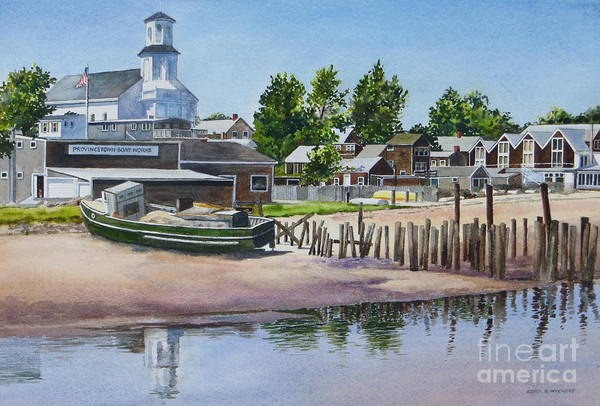 Church Print featuring the painting P' Town Boat Works by Karol Wyckoff