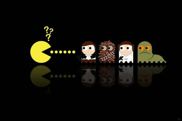 Pacman Print featuring the digital art Pacman Star Wars - 4 by NicoWriter