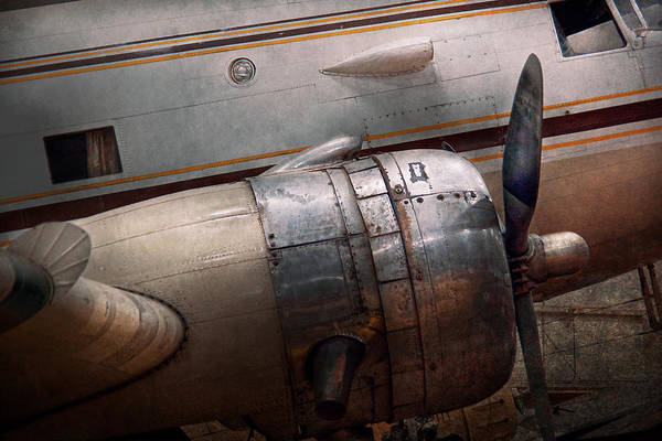 Plane Print featuring the photograph Plane - A Little Rough Around The Edges by Mike Savad