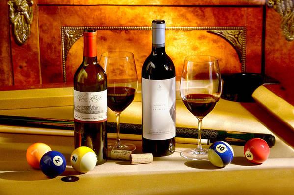 Wine Glasses Print featuring the photograph Rack Em Up by Jon Neidert