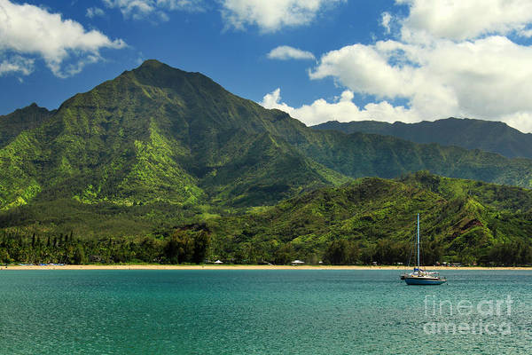 Sailboat Print featuring the photograph Ready To Sail In Hanalei Bay by James Eddy