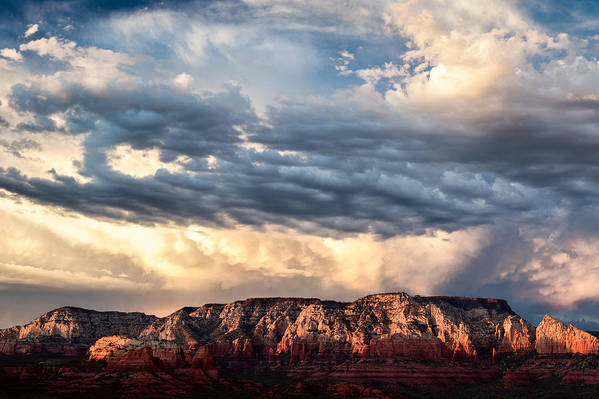 Landscape Print featuring the photograph Red Rocks Of Sedona by Dave Bowman