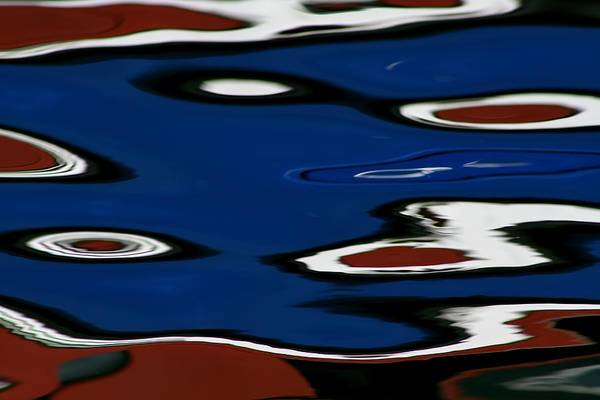 Reflections Print featuring the photograph Red White And Blue V by Heidi Piccerelli