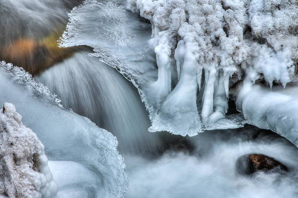 River Print featuring the photograph River Ice by Chad Dutson