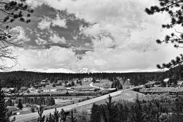 Rollinsville Is A Census-designated Place And A U.s. Post Office Located In Gilpin County Print featuring the photograph Rollinsville Colorado Small Town 181 In Black And White by James BO Insogna