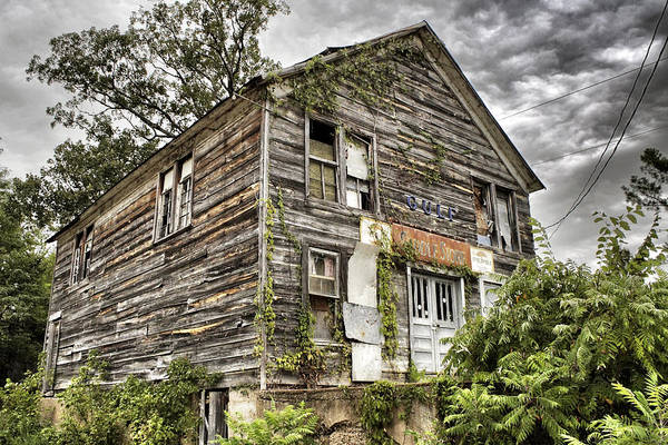 Rustic Print featuring the photograph Saddle Store 1 Of 3 by Jason Politte