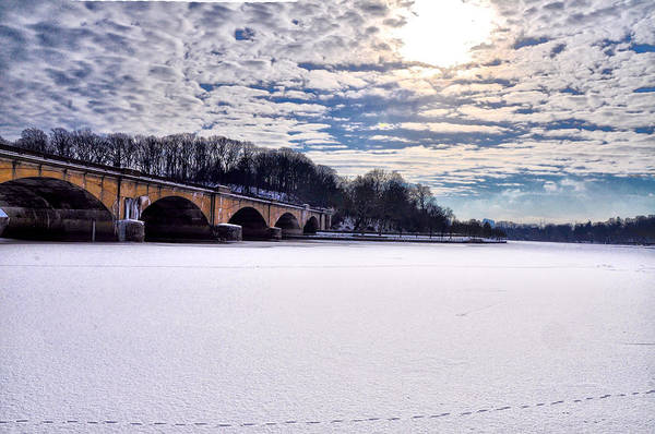 Schuylkill Print featuring the photograph Schuylkill River - Frozen by Bill Cannon