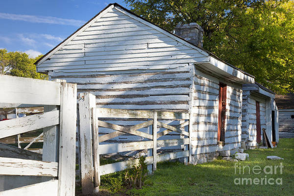 Slave Print featuring the photograph Slave Huts On Southern Farm by Brian Jannsen