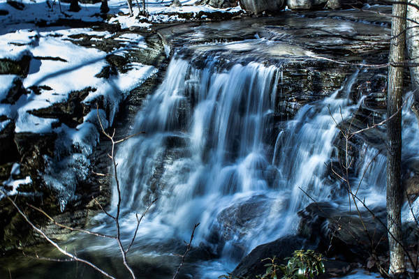 Waterfall Print featuring the photograph Snowy Waterfall by Jahred Allen