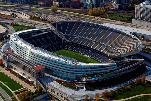 Soldier Field Print featuring the photograph Soldier Field Chicago Sports 06 by Thomas Woolworth