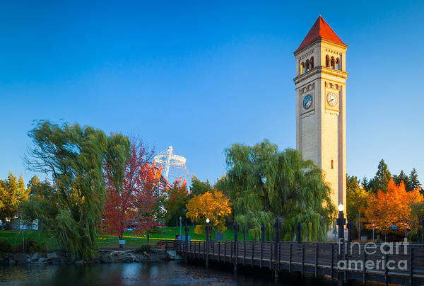 America Print featuring the photograph Spokane Fall Colors by Inge Johnsson