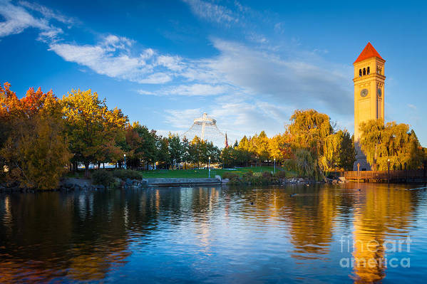America Print featuring the photograph Spokane Reflections by Inge Johnsson