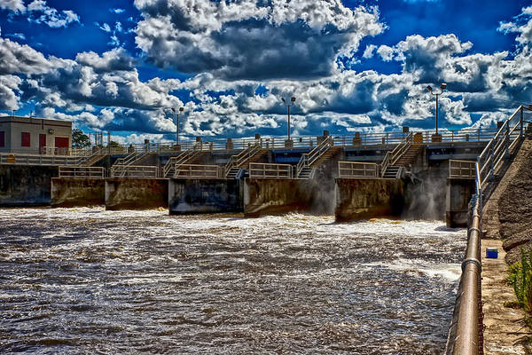 St. Lucie Lock And Dam Print featuring the photograph St Lucie Lock And Dam 3 by Dan Dennison
