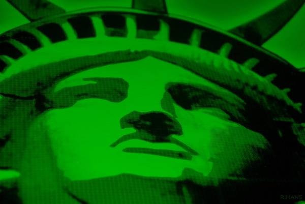 Statue Of Liberty Print featuring the photograph Statue Of Liberty In Green by Rob Hans