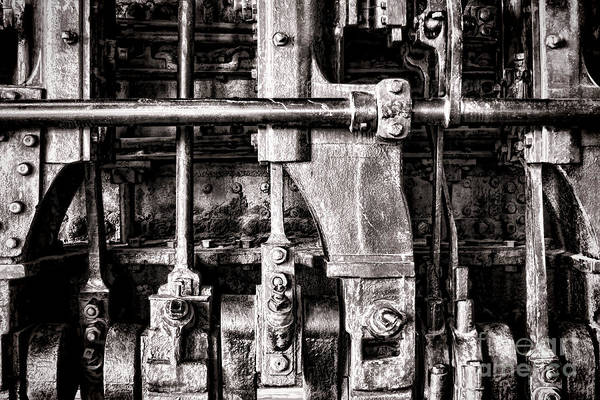 Locomotive Print featuring the photograph Steam Engine by Olivier Le Queinec