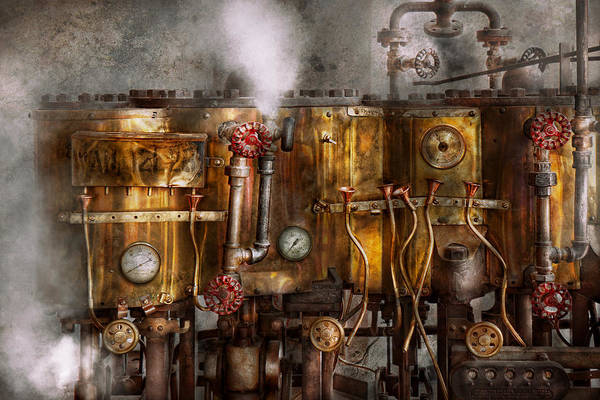 Steampunk Print featuring the photograph Steampunk - Plumbing - Distilation Apparatus by Mike Savad