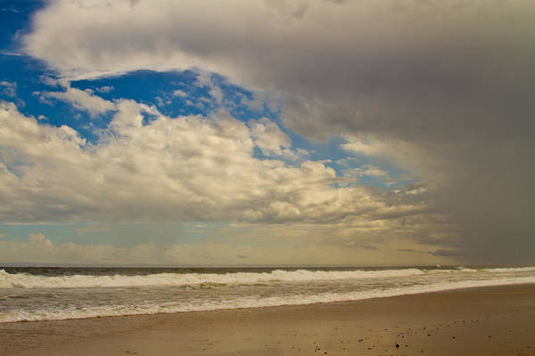 Coastal Print featuring the photograph Storm Approaching by Karol Livote