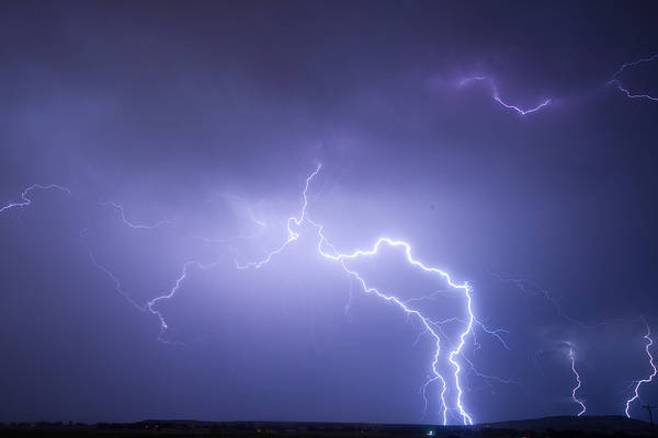 Lightning Print featuring the photograph Storm Chase Six Twenty Eight Thirteen by James BO Insogna
