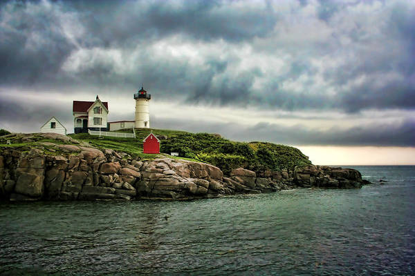 Nubble Print featuring the photograph Storm Rolling In by Heather Applegate