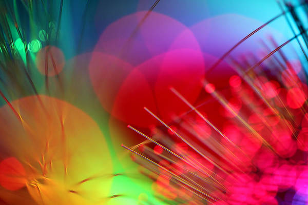 Abstract Print featuring the photograph Strange Days by Dazzle Zazz