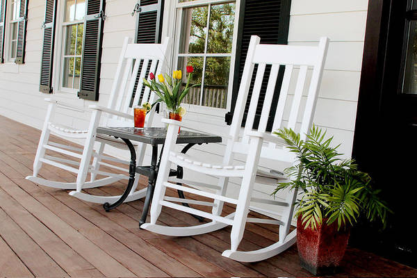 Porch Print featuring the photograph Summertime And Sweet Tea by Toni Hopper