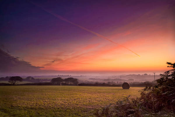 Landscape Print featuring the photograph Sunrise Over Cornwall by Christine Smart