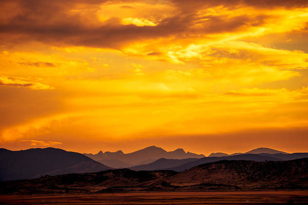 Fort Collins Print featuring the photograph Sunset And Smoke Covered Mountains by Rebecca Adams