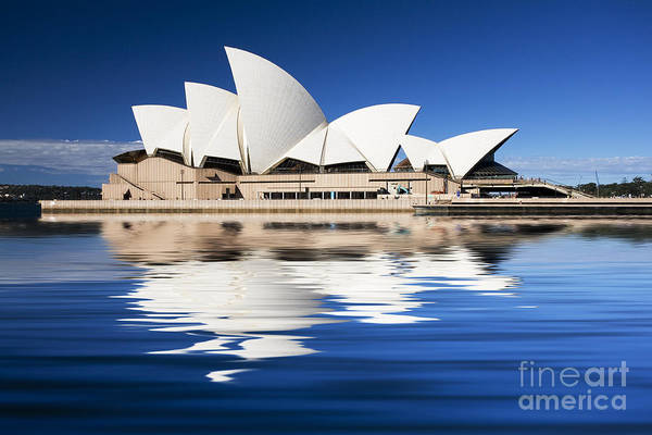 Sydney Opera House Print featuring the photograph Sydney Icon by Avalon Fine Art Photography