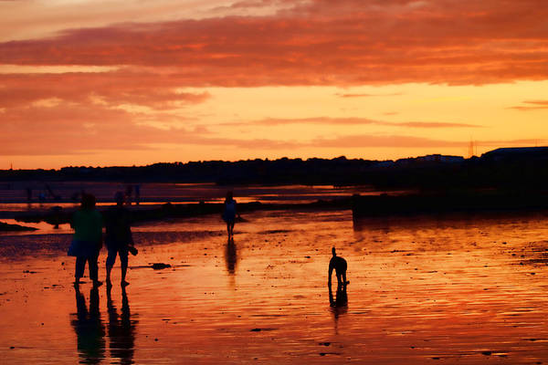 Beach Sunsets Print featuring the photograph Tangerine Sands by Sharon Lisa Clarke