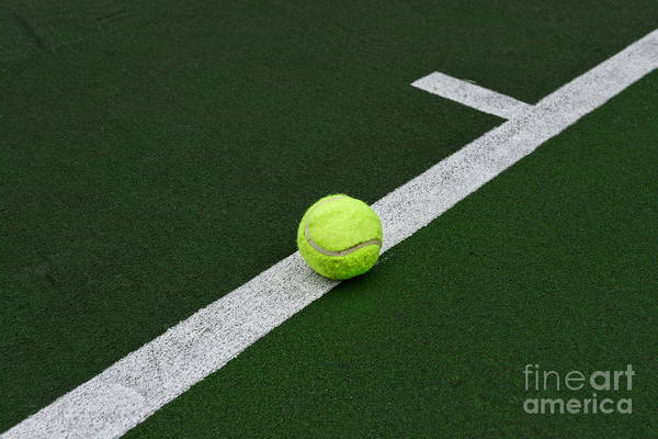 Paul Ward Print featuring the photograph Tennis - The Baseline by Paul Ward