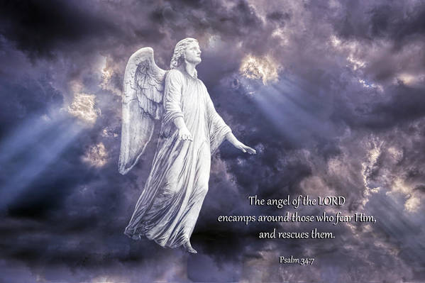 Angel Of The Lord Print featuring the photograph The Angel Of The Lord by Bonnie Barry
