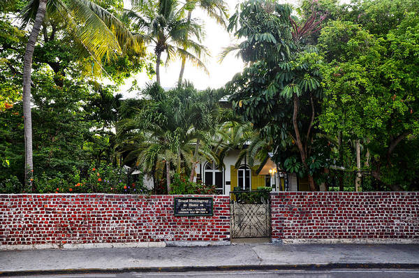 The Ernest Hemingway House - Key West Print featuring the photograph The Ernest Hemingway House - Key West by Bill Cannon