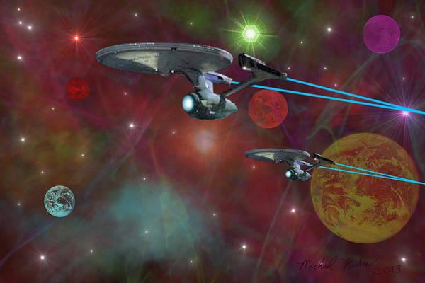 Star Trek Print featuring the digital art The Final Frontier by Michael Rucker