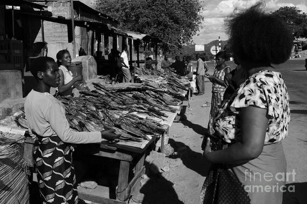 East Africa Print featuring the photograph The Fish Market by Aidan Moran