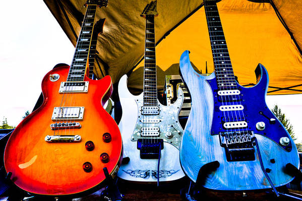 The Kingpins Print featuring the photograph The Guitars Of Jimmy Dence - The Kingpins by David Patterson