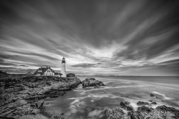 Horizontal Print featuring the photograph The Motion Of The Lighthouse by Jon Glaser
