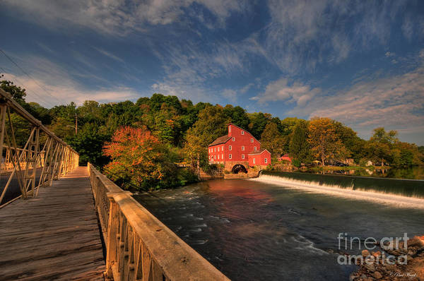 Clinton Print featuring the photograph The Red Mill by Paul Ward
