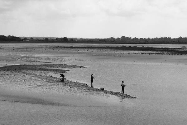 Fishermen Print featuring the photograph The Banks Of The Somme by Aidan Moran