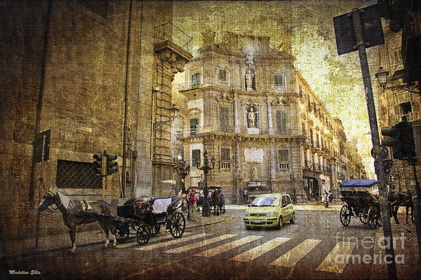 Palermo Print featuring the photograph Time Traveling In Palermo - Sicily by Madeline Ellis