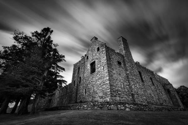 Tolquhon Castle Print featuring the photograph Tolquhon Castle by Dave Bowman