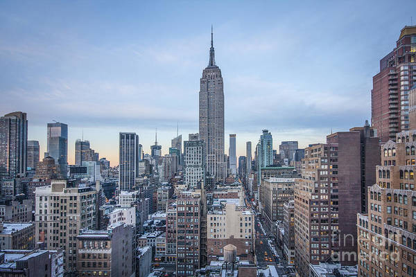 New York Print featuring the photograph Touch The Sky by Evelina Kremsdorf