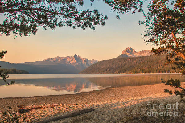 Rocky Mountains Print featuring the photograph Twilight At Redfish Lake by Robert Bales