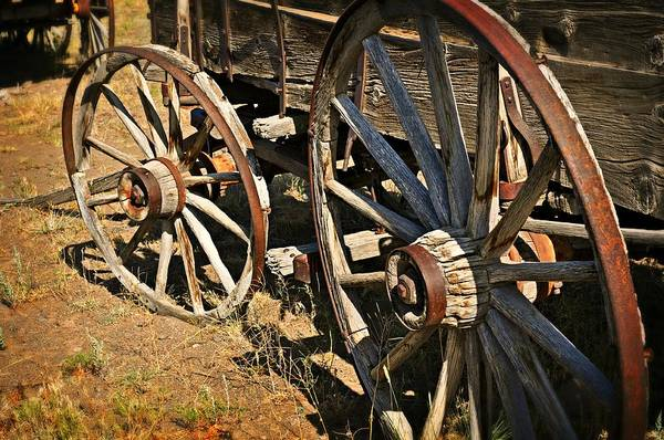 Wagon Print featuring the photograph Unequal Wheels by Marty Koch