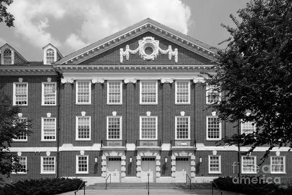 Blue Hen Print featuring the photograph University Of Delaware Wolf Hall by University Icons