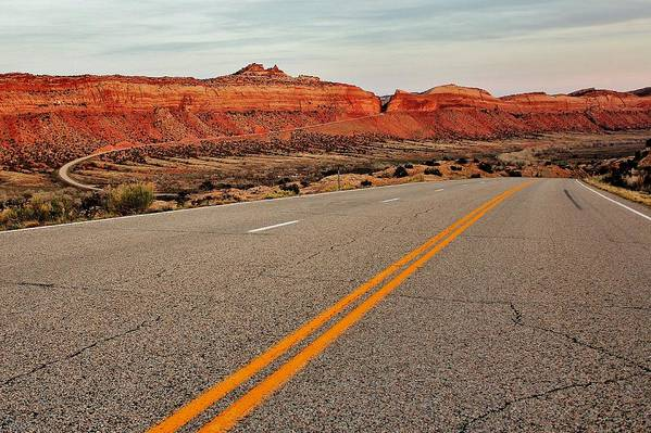 Utah Print featuring the photograph Utah Highway by Benjamin Yeager